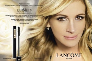Illustration for article titled Julia Roberts' First Lancôme Ad Revealed; UK Chain Store Abjures Airbrushing