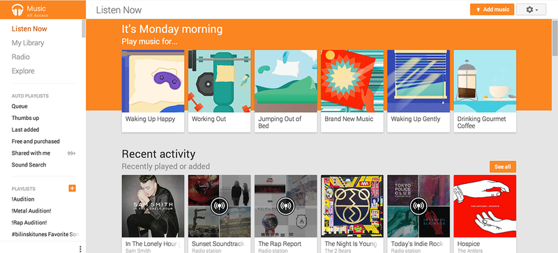 Illustration for article titled Google Play Music Gets a New Look and Songza's Suggestion Superpowers