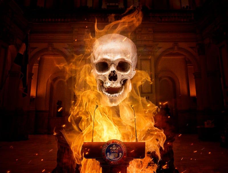 Illustration for article titled Denver's Flaming Skull Mayor Announces Plans To Decriminalize Magic Mushrooms