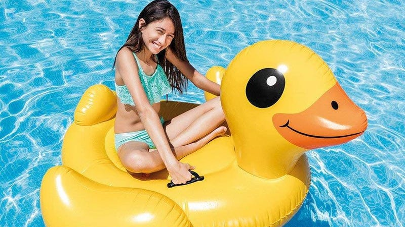 Intex Yellow Inflatable Duck Ride-On | $10 | Amazon