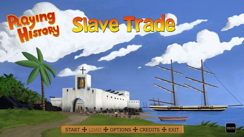 "Illustration for article titled Game company pulls ""educational"" slave-stacking mini-game"