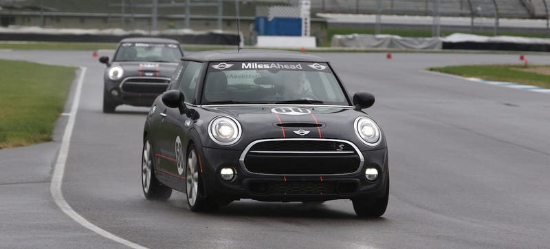 Illustration for article titled The Nine Things You Learn Driving Minis At Indianapolis Motor Speedway