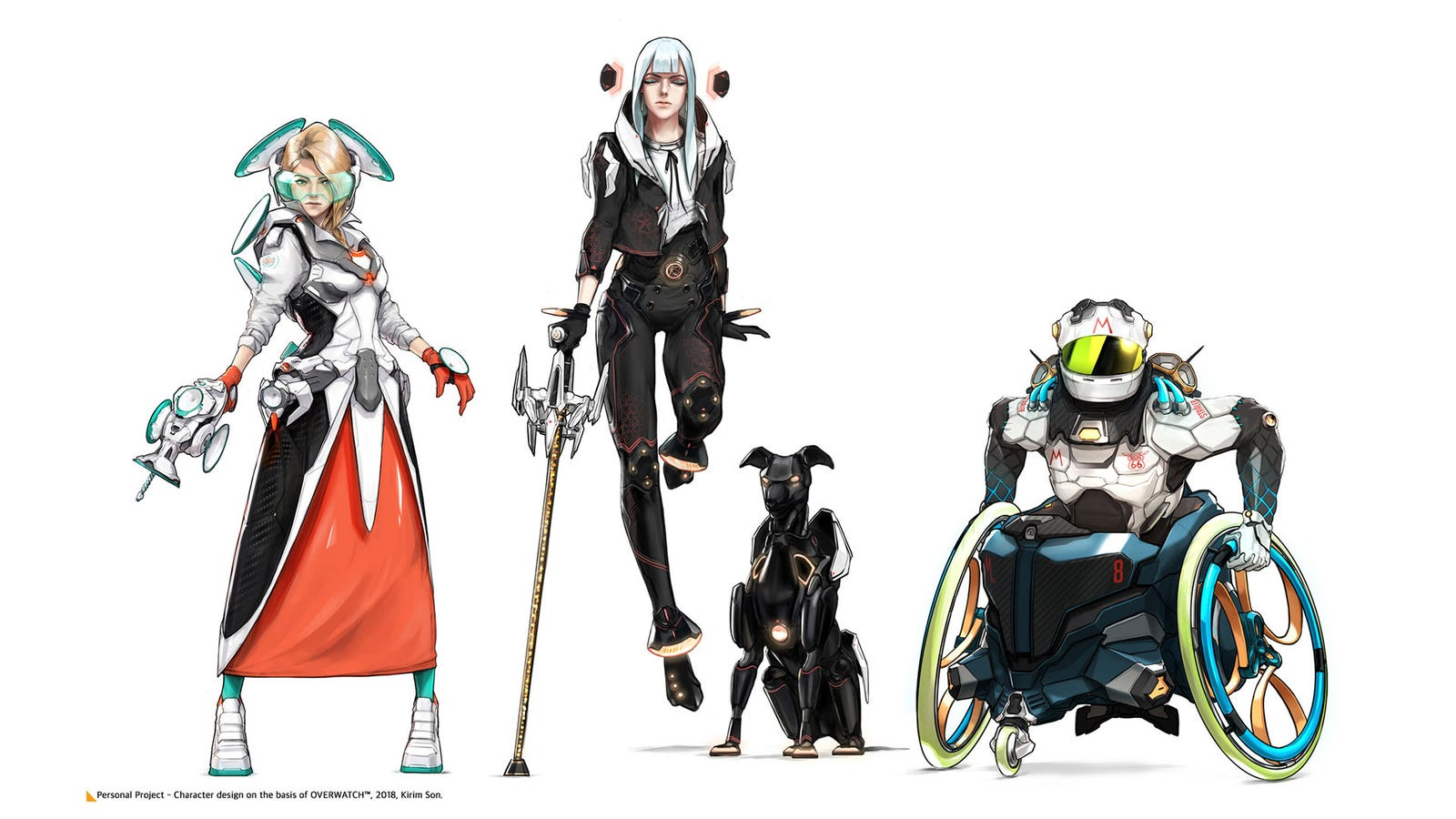 Fine Art: A Cool Set Of New Overwatch Character Designs