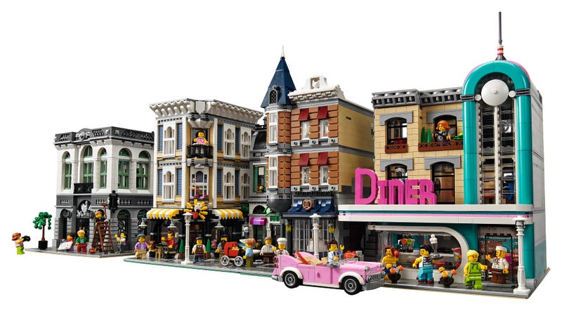 Illustration for article titled New Downtown Diner Set Brings '50s Flair To Lego Cities