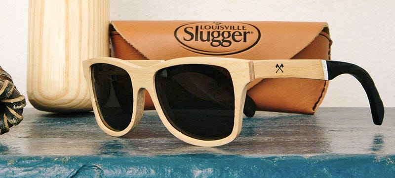 Illustration for article titled Stylish Sunglasses Made From Salvaged Shattered Louisville Sluggers