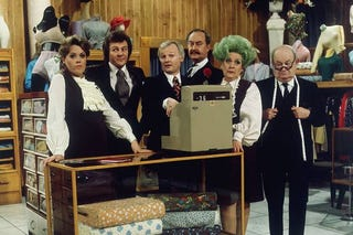 The original cast of Are You Being Served