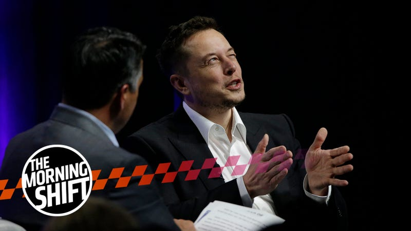 """Tesla and SpaceX CEO Elon Musk responds to a question by Nevada Republican Gov. Brian Sandoval during the closing plenary session entitled """"Introducing the New Chairs Initiative - Ahead"""" on the third day of the National Governors Association's meeting Saturday, July 15, 2017, in Providence, R.I. (AP Photo/Stephan Savoia)"""