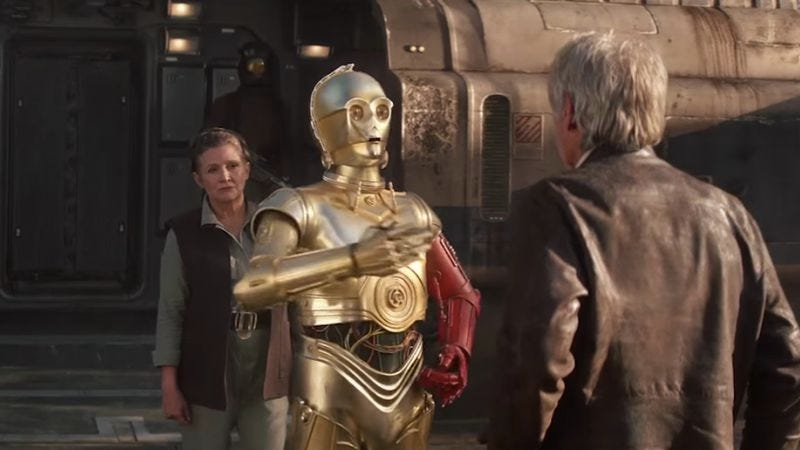 Illustration for article titled The traumatic reason for C-3PO's red arm has been revealed
