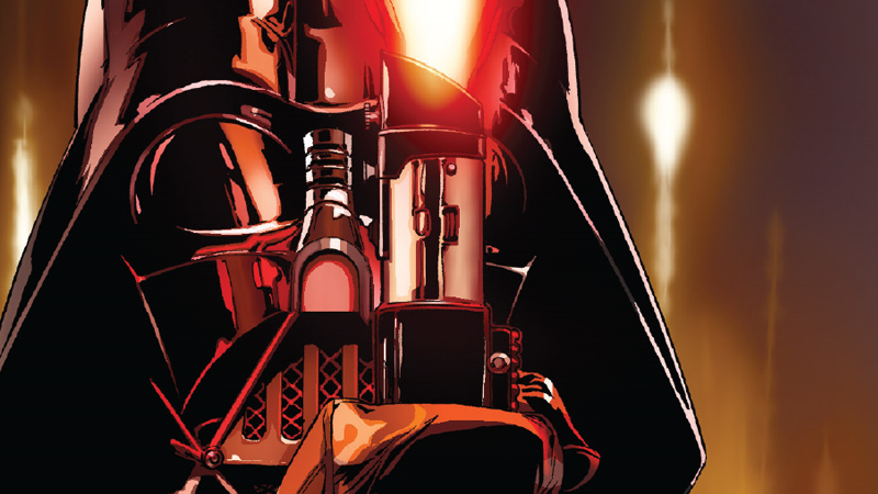 Darth Vader ignites his infamous lightsaber for the first time in Darth Vader #12