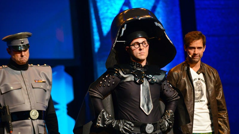 Cosplayer Bernie Bregman, wearing a facsimile of Dark Helmet's duds. (Photo: Albert L. Ortega/Getty Images)