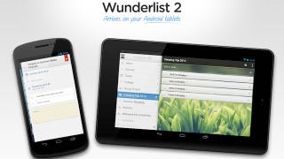 Illustration for article titled Wunderlist for Android Supports Tablets, Manages Your To-Dos on a Large Screen