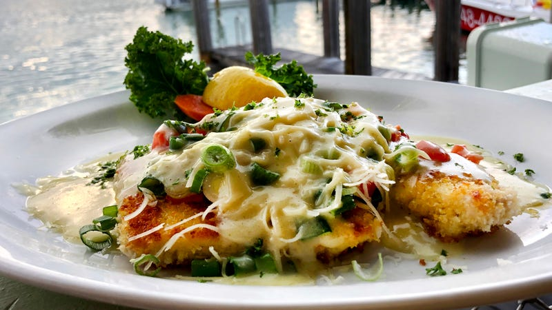 Panko-crusted fish with Key lime butter is my favorite Florida souvenir