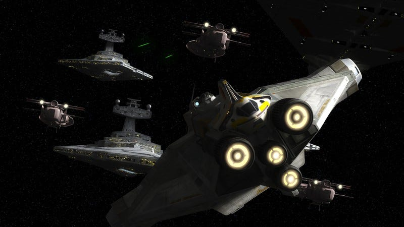 """Illustration for article titled Star Wars Rebels' season finale is the most """"Star Wars-sian"""" the show has ever been"""