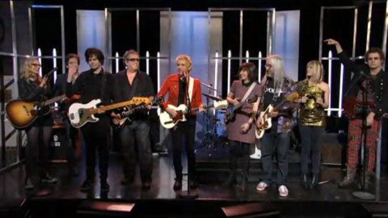 Illustration for article titled In case you missed it, here's Fred Armisen saying goodbye to SNL with a bunch of indie-rock all-stars