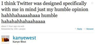 Illustration for article titled Kanye's Twitter Is Intolerable, And He Must Be Stopped