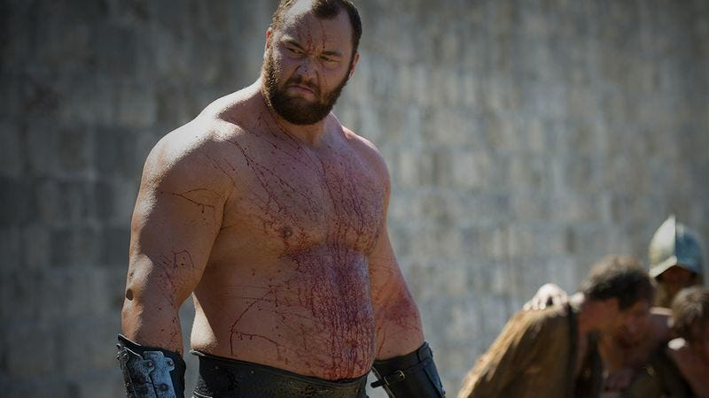 Illustration for article titled The Mountain from Game Of Thrones is now Europe's Strongest Man