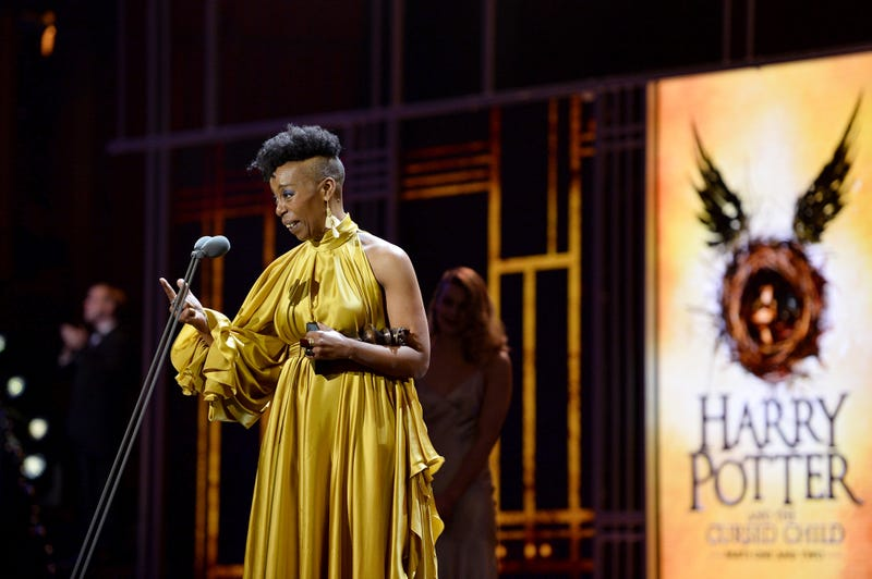 Noma Dumezweni wins the Best Actress in a Supporting Role for Harry Potter And The Cursed Child, at The Olivier Awards 2017 at Royal Albert Hall on April 9, 2017, in London.