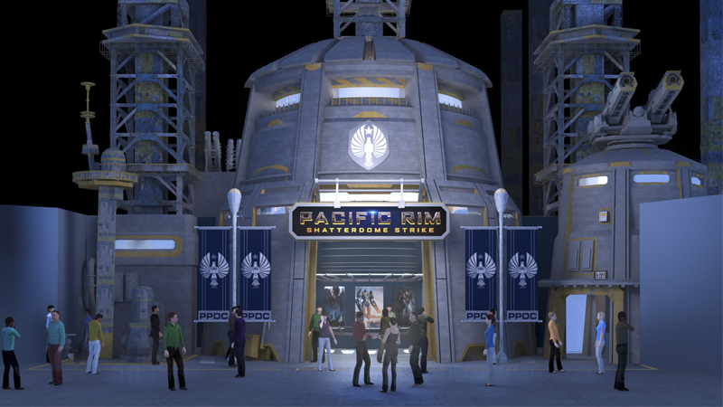 Concept art for the entrance to Shatterdome Strike.