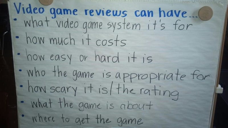 Illustration for article titled First-Graders Are Learning How To Write Video Game Reviews Now
