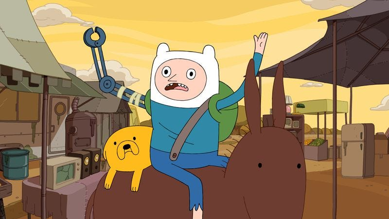 "Illustration for article titled Adventure Time: ""Finn The Human""/""Jake The Dog"""