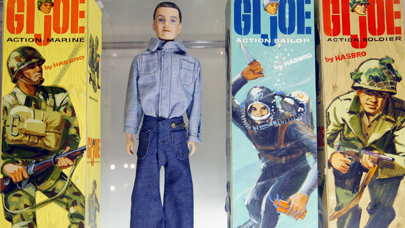Image: Classic G.I.Joe action figures on display at 2003 Hasbro International G.I. Joe Collectors' Convention. Justin Sullivan/Staff/Getty Images