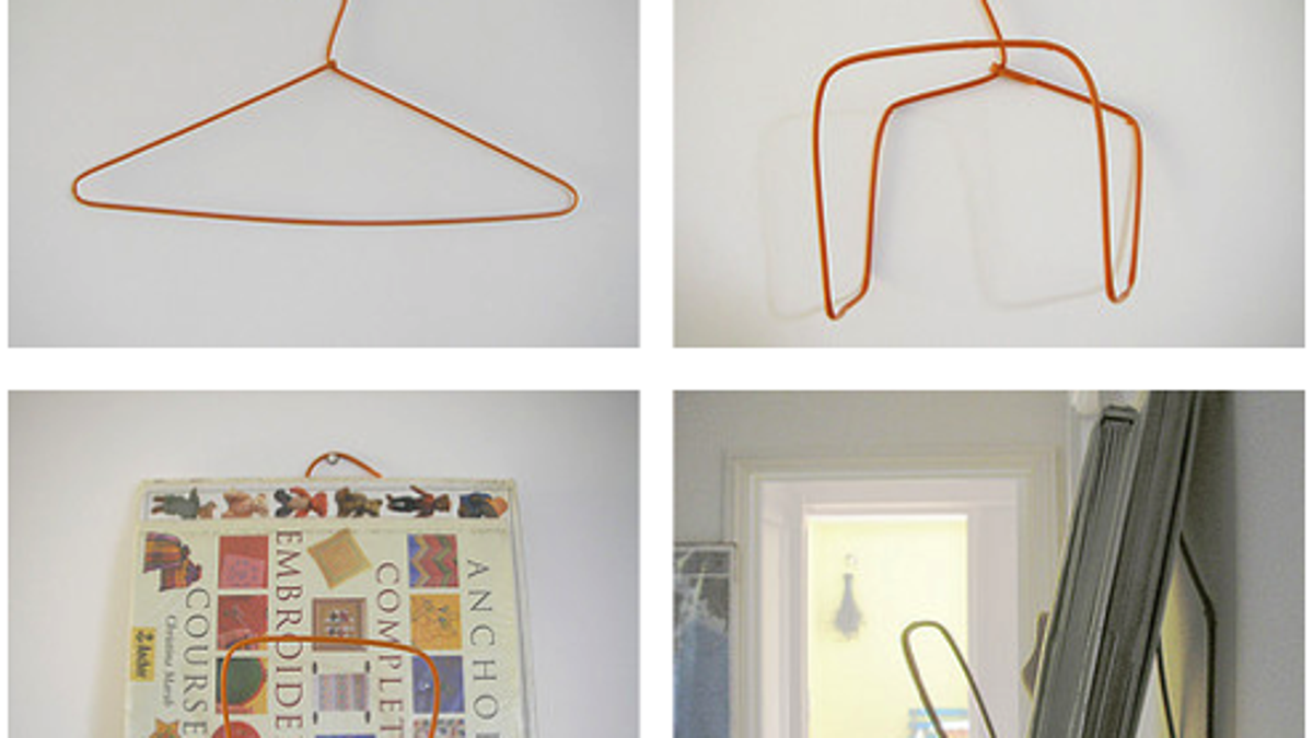 DIY Wire Hanger Book or Magazine Rack