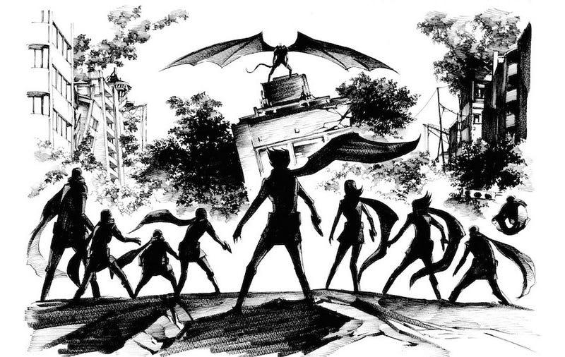 Illustration for article titled Forget Godzilla Vs. King Kong—The Showdown We Want IsCyborg 009 Vs. Devilman