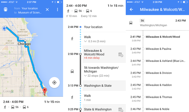 Illustration for article titled Google Just Made It Easier To See Exactly How Late Your Bus Is