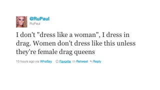 Illustration for article titled RuPaul Lets Us Know the Difference Between Dressing in Drag and Dressing Like a Woman