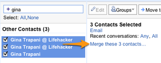 Illustration for article titled Merge Multiple Emails to One Contact in Gmail