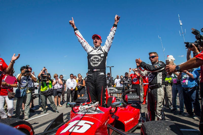 Illustration for article titled Rahal Wins At Honda Indy 200 And More People Gotta Watch This Stuff