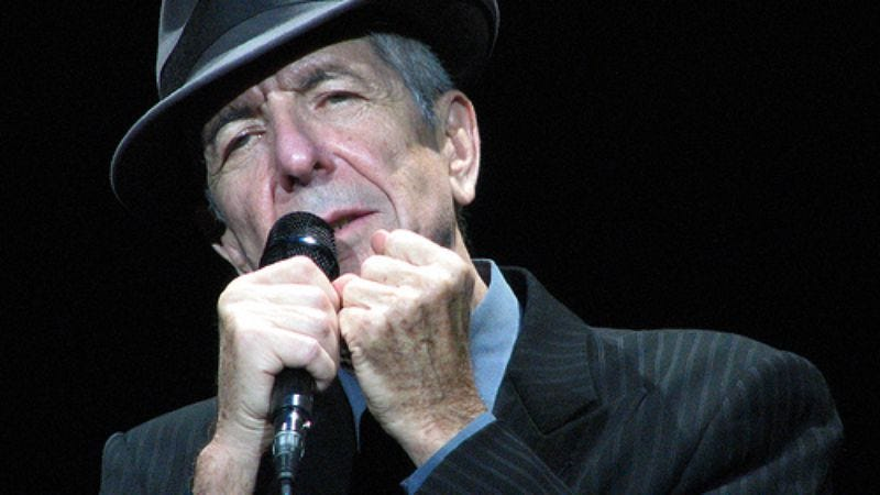 Illustration for article titled Leonard Cohen recuperating from on-stage collapse
