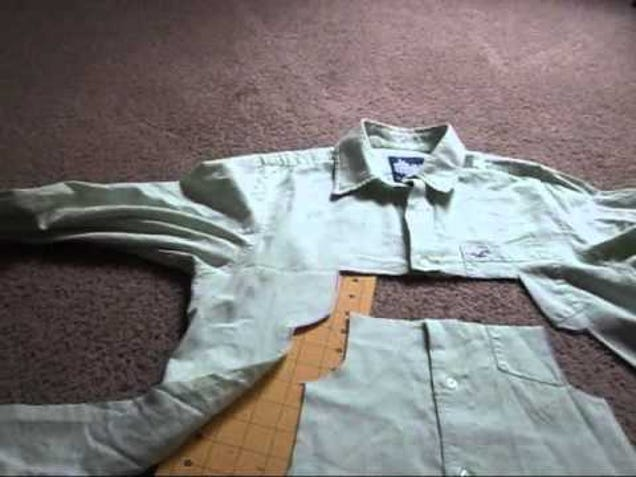Transform an Old Mens Dress Shirt Into a Toddlers Dress