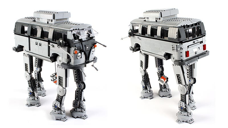 Illustration for article titled This Lego Mashup of Volkswagen and Star Wars  Works Surprisingly Well