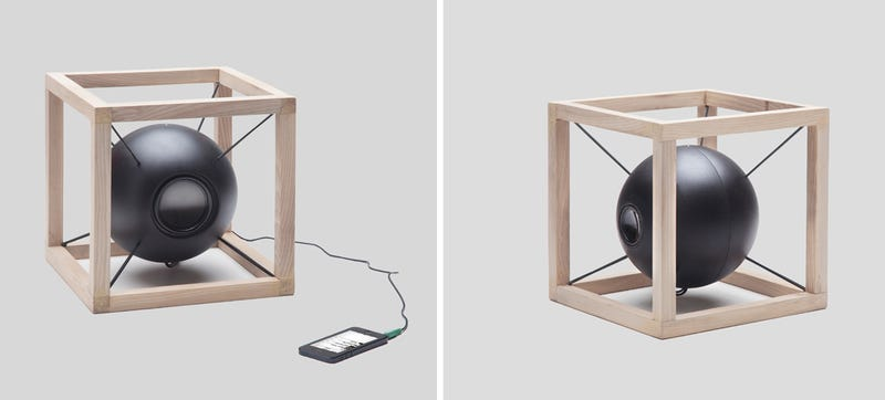Illustration for article titled This Floating Speaker Shows You Soundwaves As It Plays