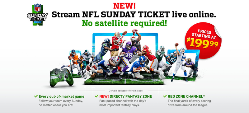 Illustration for article titled NFL Sunday Ticket Will Be Available Without Satellite Next Season (Updated)