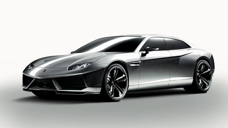 Illustration for article titled Lamborghini's First EV Will Be A 'Mature' Coupe Design Likely Based On The Porsche Taycan: Report