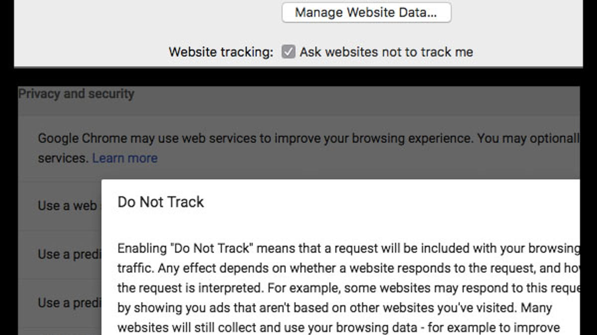 Do Not Track' Privacy Tool Doesn't Do Anything