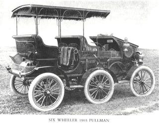 Illustration for article titled 1903 The York Motor Car Co. Pullman 6-wheel Prototype