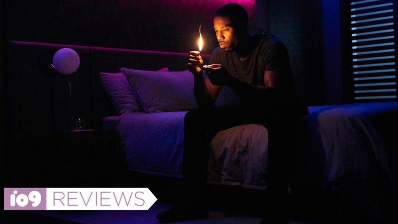 MIchael B. Jordan plays Guy Montag, a man who burns books for a living, in Fahrenheit 451.