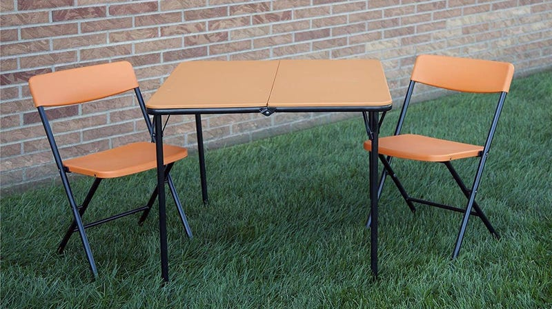 COSCO 3 Piece Folding Table and 2 Chairs | $44 | Amazon