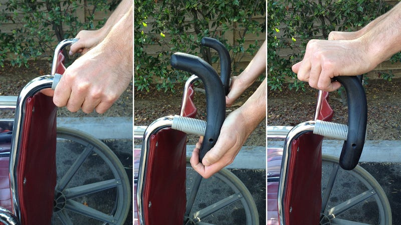 Illustration for article titled Redesigned Handles Make It Easier To Push and Pull a Wheelchair