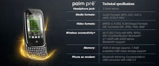Illustration for article titled Palm Pre Spec Sheet Confirms Tethering, But At What Cost?