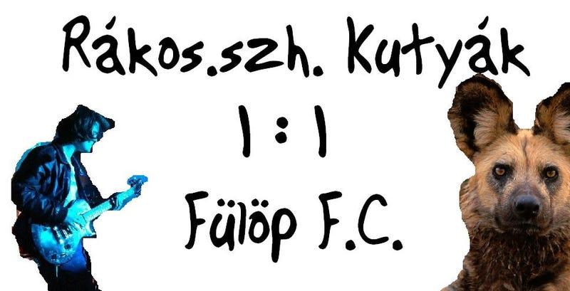 Illustration for article titled Rákosszentmihályi Kutyák - Fülöp Péter FC - 1:1