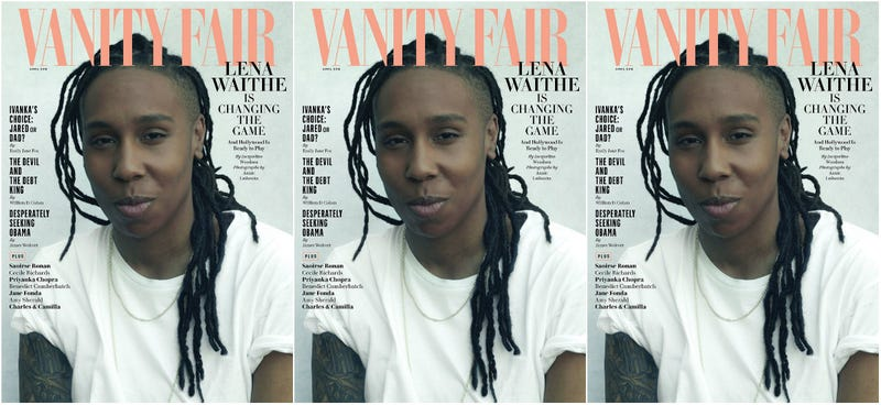 Lena Waithe on the cover of the April 2018 issue of Vanity Fair
