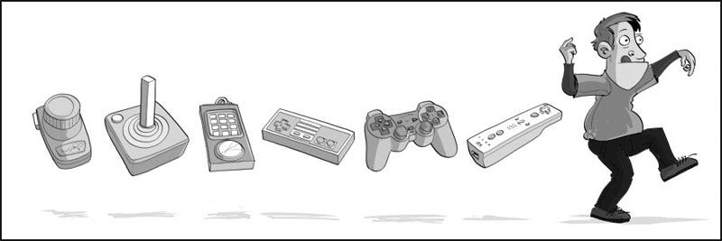 Illustration for article titled The Evolution of Game Controllers