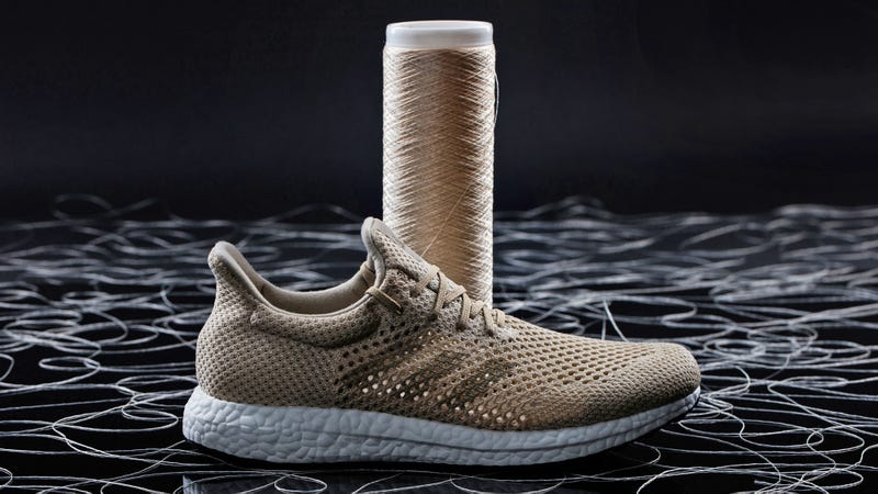 Illustration for article titled Adidas' New Biodegradable Sneakers Are Made From Ultra-Strong Artificial Silk Fibers