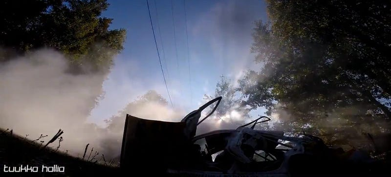 Illustration for article titled Rally Car Takes Perfect Video Selfie After Insane Rollover