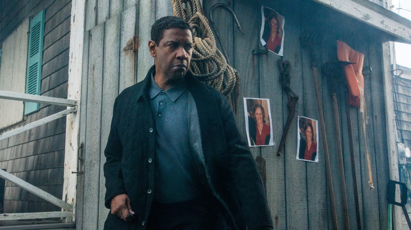 Denzel Washington, pretty much already playing Batman in Antoine Fuqua's The Equalizer 2.