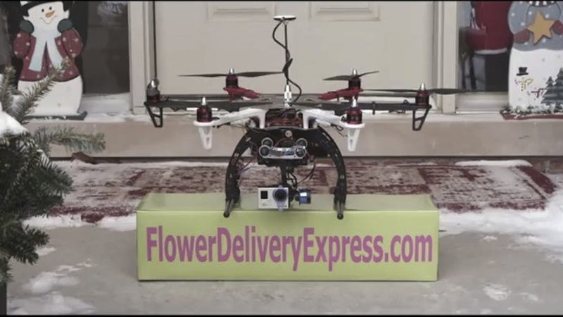 Illustration for article titled Flower-Delivery Drones Fly Again, Thanks to Federal Judge
